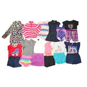 19 Pc Girls Sz 6-6x Name Brand School Outfit Lot